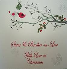 white cotton cards sister brother law merry christmas