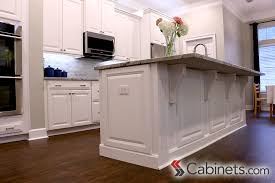 decorative end panels and corbels finish off this kitchen island
