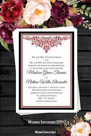 Red And Black Wedding Invitations Wedding Invitations Templates Printable For All Budgets Wedding