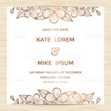Invitation Card Samples Save The Date Wedding Invitation Card Template With Flower Wreath