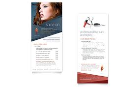 salon brochure hair stylist u0026 salon rack card template word
