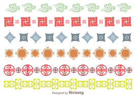 japanese culture ornament border free vector stock