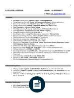 Sample Resume For Manual Testing Professional Of 2 Yr Experience by Manual Testing Experienced Resume 1 Software Testing