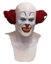 evil scary clown it pennywise overhead latex mask horror movie