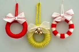 miniature wreath ornaments family crafts