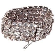 rhinestone bracelet images Eisenberg glitz huge signed rhinestone bracelet cuff bling jpg