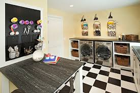 Best Flooring For Laundry Room Laundry Room Idea With White Shelves Feat Rattan Storages And