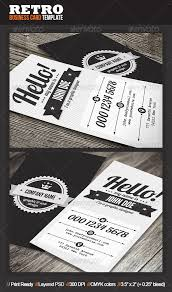 clean retro business card business cards business and fonts