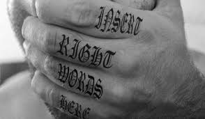 60 word tattoos on fingers
