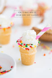 How To M by How To Make Mini Ice Cream Cone Shot Glasses Video Sugar