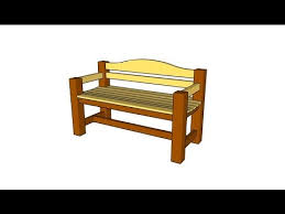 outdoor wooden bench plans youtube