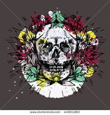 skull n roses tattoo stock vector 115136491 shutterstock