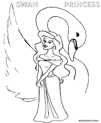 the swan princess coloring page coloring home