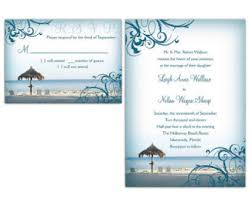 Invitations And Rsvp Cards Beach Wedding Invitations With Rsvp Cards Best Images