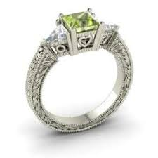 peridot engagement ring peridot gemstone jewelry for august birthstone gemstone