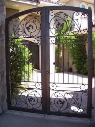 wrought iron courtyard gates decorative iron works wrought