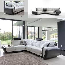 canape d angle bicolore canapé angle design grande promo canapés cuir pas cher