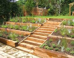 Sloping Garden Ideas Photos Side Sloped Backyard Landscaping Search Garden
