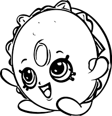 bagel billy coloring page wecoloringpage