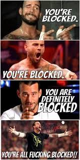 Blocked Meme - pro wrestling memes on twitter cmpunk already blocked me i hope