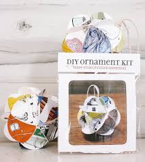 diy recycled paper holiday ornament kit art cards u0026 stationery