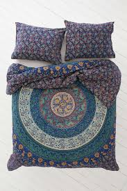 Elephant Twin Bedding Mystic Blue Forest Bohemian Tapestry Elephant Mandala Indian Queen