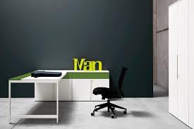wooden desk contemporary commercial corner k word manerba