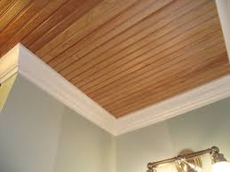 wood planking on the ceiling is a country style must love it but
