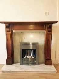 fireplace marble hearth and back piece electric fire in