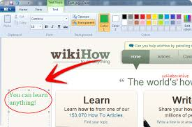 how to create annotated screenshots using windows paint