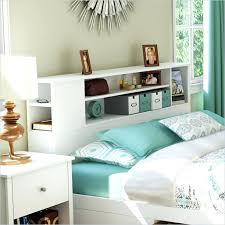 queen size storage bed plus bookcase headboard bookcases home