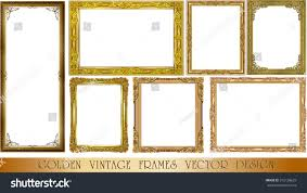 set gold photo frame corner thailand stock vector 515138629 set of gold photo frame with corner thailand line floral for picture vector design decoration