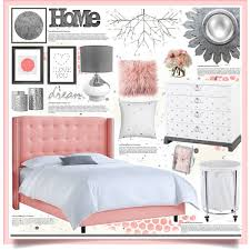 pink u0026 grey bedroom decor by hmb213 on polyvore featuring interior