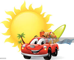 cartoon car cartoon car with traffic light vector art getty images