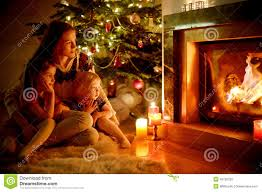 cozy christmas living rooms with fireplaces