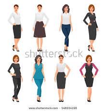 beautiful clothes women office clothes beautiful woman business stock vector