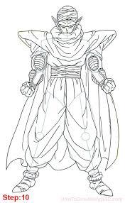 draw piccolo dragon ball body mangajam