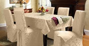 Striped Dining Chair Slipcovers Dining Room Awesome Dining Room Chair Covers Striped Intriguing