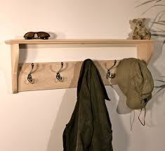 furniture wooden coat and hat hanger with shelf entryway as well