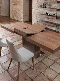 extending pedestal dining table modern leoni wood extending dining table from furniture mind