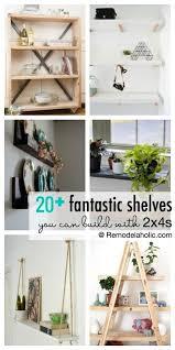 20 fantastic ideas for diy 20 fantastic diy 2 4 shelving ideas remodelaholic shelving