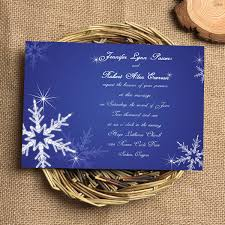 Royal Blue Wedding Invitations Attractive Blue And White Snow Wedding Invitations Iwi007
