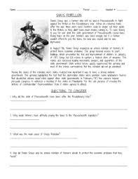 shay u0027s rebellion worksheet