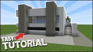 Modern Houses Minecraft Minecraft How To Build An Easy Concrete Modern House New Blocks
