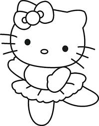 hello kitty christmas colouring pages print free printable