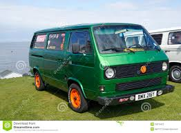 orange volkswagen van vw green van editorial photography image 53219422