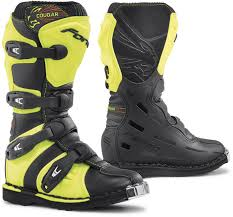 leather motocross boots forma wear forma cougar kids motorcycle boots black yellow