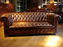 vintage leather chesterfield sofa sold antique 3 seater brown leather chesterfield antique