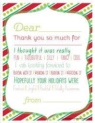 printable christmas thank you cards u2013 happy holidays