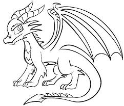 coloring pages marvelous easy draw dragons coloring pages
